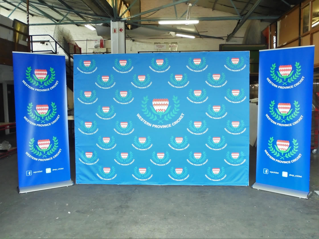 This is an example of a banner created for the Western Province Cricket Association, designed and created by Vye Graphics.