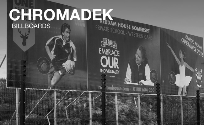 This is another chromadek example of the billboards that Vye Graphics can design and create. This time, it's for the Reddam House School.