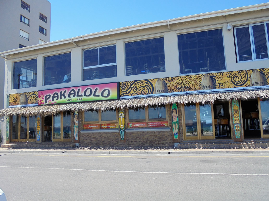 This is an example of the type of signs that Vye Graphics can create for your company, this sign was created for Pakalolo's Cafe and Bar.