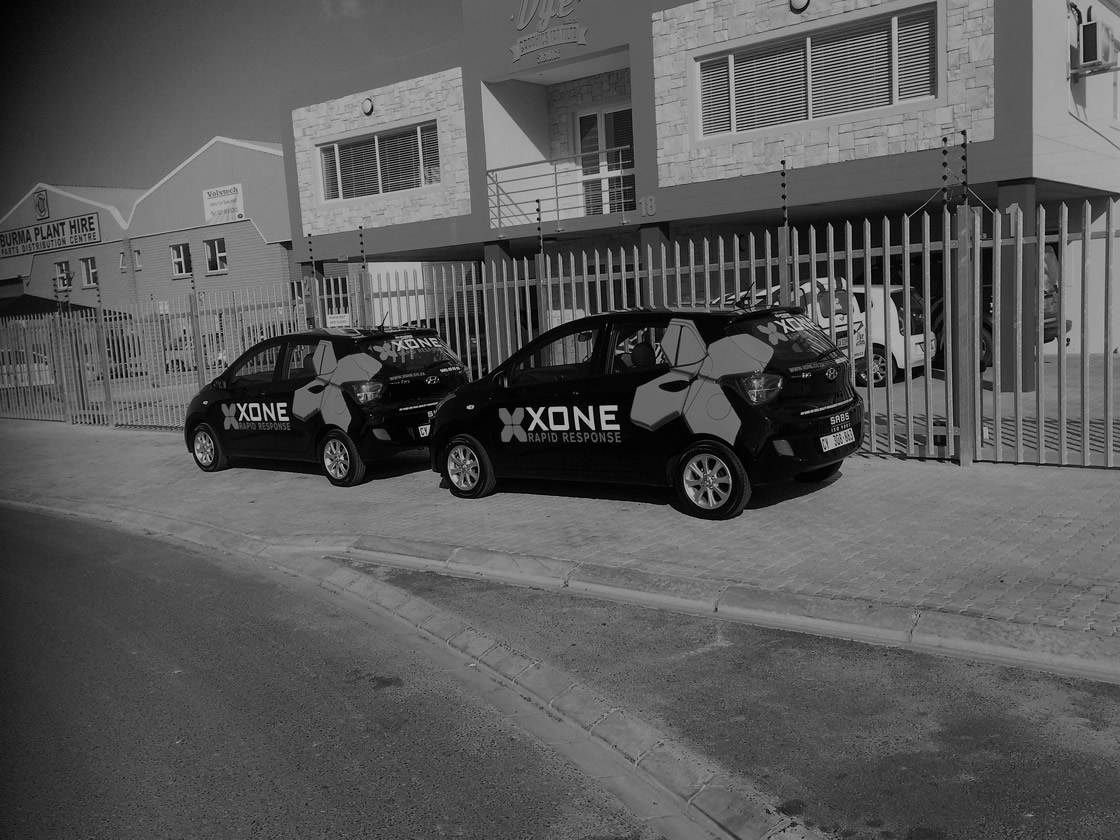 This is another example of the types of vehicle branding that Vye Graphics can offer as a service and product, this particular branding is for Xone.