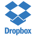 This is the icon used to display Dropbox on the Vye Graphics website.