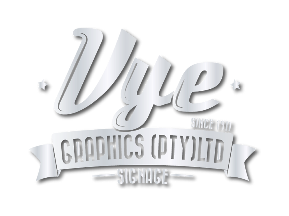 This is the Vye Graphics logo in grey text, and in a large size.
