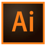 This is the icon used to display Adobe Illustrator on the Vye Graphics website.