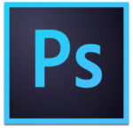 This is the icon used to display Adobe Photoshop on the Vye Graphics website.