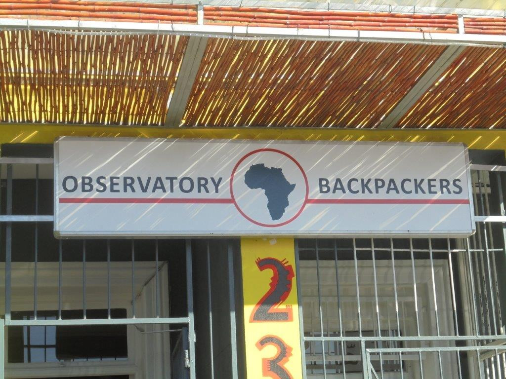 This is the second example of an outdoor light box, customised for the company Observatory Backpackers by the graphics company Vye Graphics.
