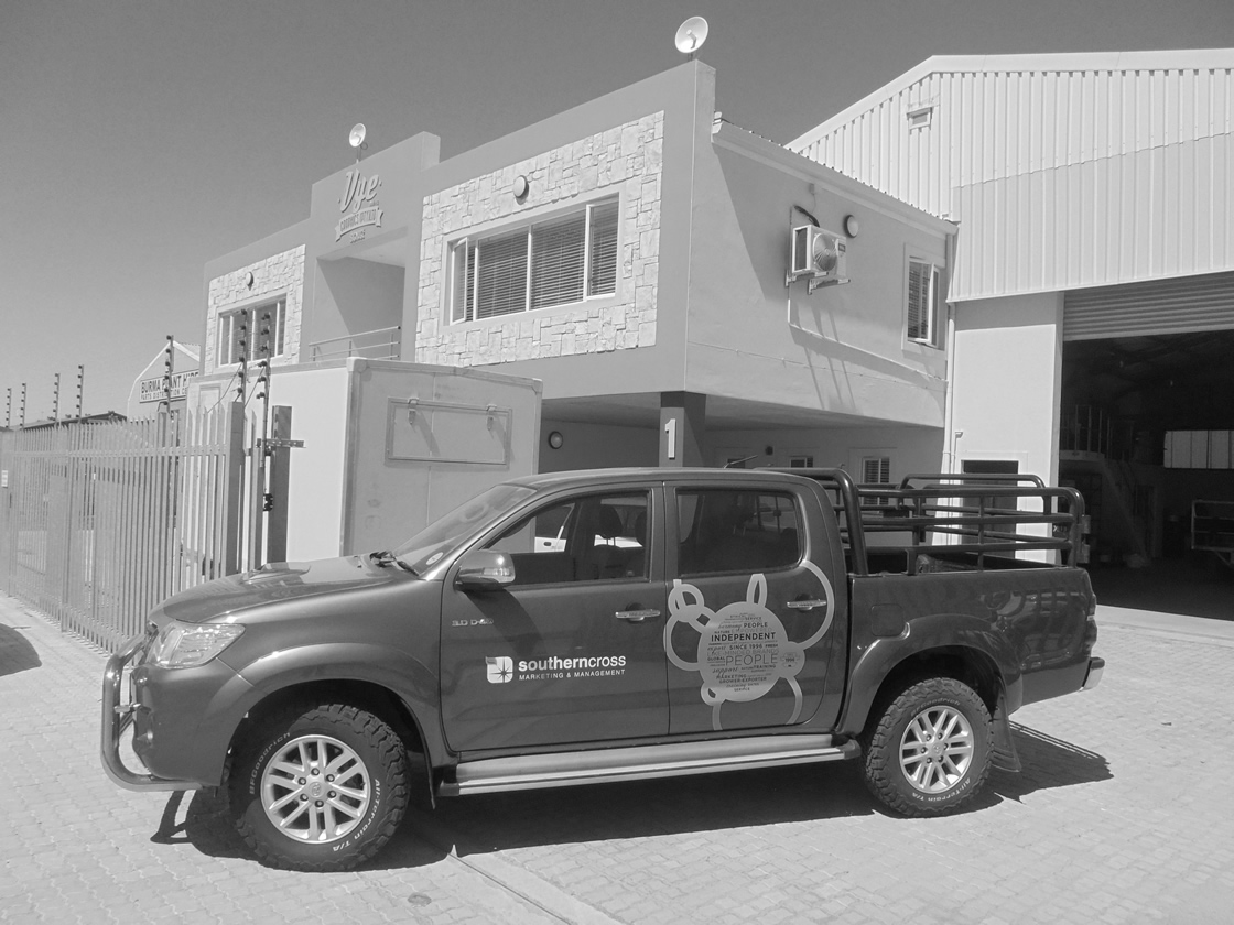 This is a vehicle wrap, done by Vye Graphics, for the company Southerncross.
